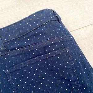 NWOT Talbots polka dot skinny ankle stretch denim